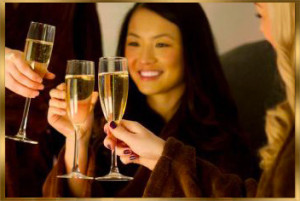 ladies w champagne 300x201 Eminence Spa Parties